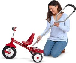 NEW Radio Flyer Deluxe Steer and Stroll Tricycle Trike RED K