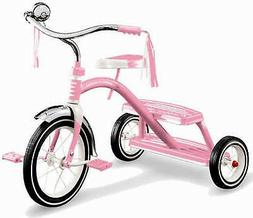 """NEW IN BOX RADIO FLYER #33P CLASSIC GIRLS PINK 12"""" TRICYCLE"""