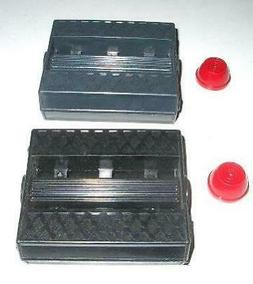 NOS Vintage Black Plastic Tricycle Pedal Car Pedals with 3/8