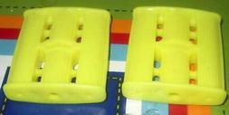 NOS Vintage Canary Yellow Plastic Tricycle Pedal Car Pedals