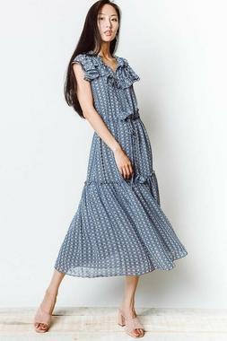 NWT MISA Los Angeles Meliss Midi Dress, Size L, US 12