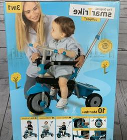 SmarTrike Original 3-in-1 Toddler Tricycle Grow With Me Push