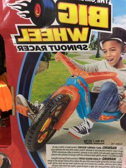 """Original Big Wheel Spinout Racer Low Ride Tricycle 16"""" Orang"""