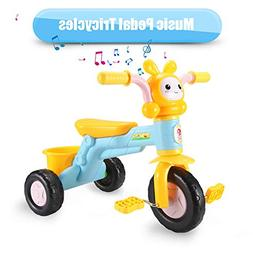 qiaoniuniu Kids' Pedal Tricycles Music Rider trikes Bike wit