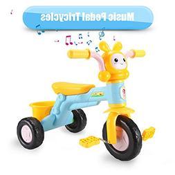 qiaoniuniu Kids' Pedal Tricycles Music Rider trikes Bike wit