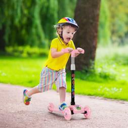 Pink Kick Scooter-Toddler Tricycle Baby 3 In 1 Balance Bike