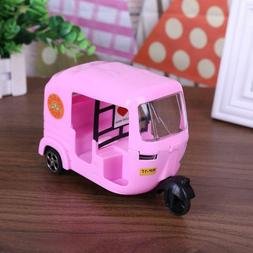 Pink Tricycle Toy Doll House Accessories Children Toy Car fo