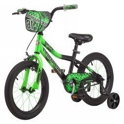 """Schwinn Piston 16"""" Kids' Bike - Green with Training Wheels"""
