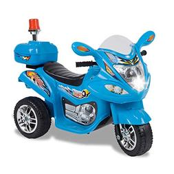 TAMCO Police Motorcycle Ride On Toy with Flash Alarm Light,