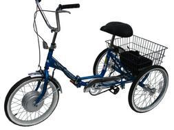 Worksman Adult Port-o-Trike Lightning Electric Tricycle