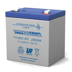 Power-Sonic 12V 5AH SLA Battery Replaces Razor PowerRider 36