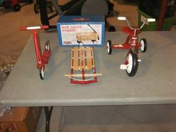 Radio Flyer Toy Group--Classic Red Scooter--Snow Sled--Tricy