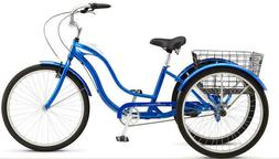 RARE Schwinn Town & Country Adult Tricycle w BELL 3 Speed Bl