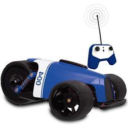 SHARPER IMAGE RC Car BLUE Phantom Racer Trike, Remote Contro