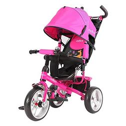Reclining Seat Baby Tricycle/Stroller Combo Turk- Pink
