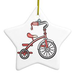 retro tricycle ceramic ornament star