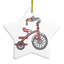 retro tricycle ceramic ornament star