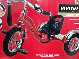 "Schwinn Roadster Kids Trike Vintage Bike Chrome 12"" Red Retr"