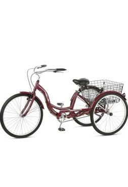 Schwinn S4002 Meridian Adult Tricycle - Black Cherry