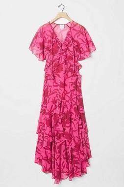 Anthropologie Sabrina Ruffled Maxi Dress By Misa Los Angeles