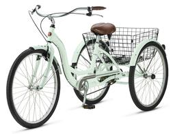Schwinn Meridian Adult Tricycle, 26-inch wheels, rear storag