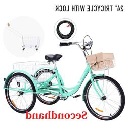 "Secondhand  24""Adult Tricycle with Removable Basket 3 Wheel"