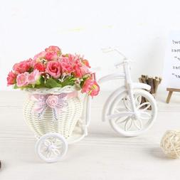 Simulation Silk Artificial Flower Wheeled <font><b>Tricycle<