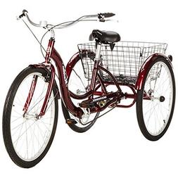 "Single Speed 26"" Schwinn Meridian Adult Tricycle with Adjust"