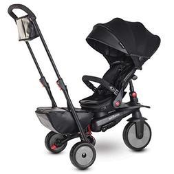 smarTrike STR7 Urban Folding Baby Tricycle, Black