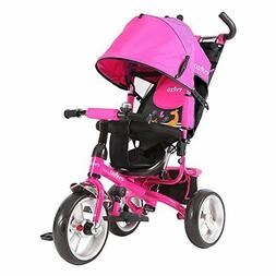 Evezo Stroll 'n Trike 4-in-1 Tricycle, blue or pink