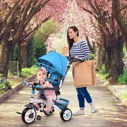 Stroller Bike for kids - Costzon 4-in-1 Kids Tricycle toddle