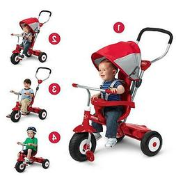 Radio Flyer All-Terrain Stroll 'N Trike Ride-On, Red Tricycl
