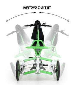 Tilting Recumbent Trike Bicycle Tricycle  With Suspension, 2