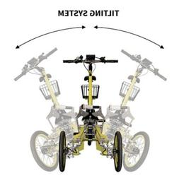 Tilting Trike Bicycle Tricycle  With Suspension, 250 w Motor
