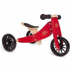 Kinderfeets Tiny Tot 2-in-1 Balance Bike and Tricycle, Cherr