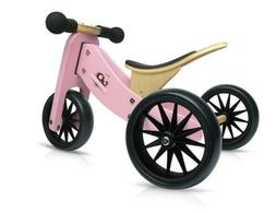 Kinderfeets TinyTot Wooden Balance Bike and Tricycle, Conver