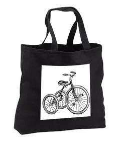 TNMPastPerfect Toys - Tricycle - Tote Bags - Black Tote Bag