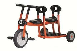Toddlers' Orange Tricycle w 2 Seats - Pedals In Front Only