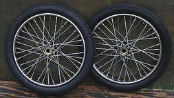 """Worksman Tricycle Bike 20"""" WHEELS TIRES Vintage Delivery Car"""