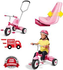 Tricycle Bike Toddler Outdoor Kids Radio Flyer Deluxe Steer