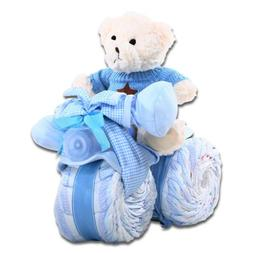 Tricycle Diaper Cake - Baby Boy