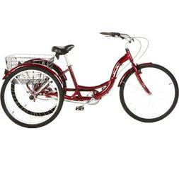 Tricycle Durable for Adults Lightweight Wide Comfortable Sea