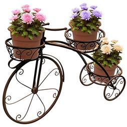 tricycle plant stand - flower pot cart holder - ideal for ho