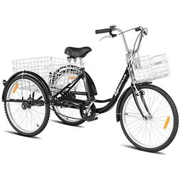 Goplus Adult Tricycle Trike Cruise Bike Three-Wheeled Bicycl
