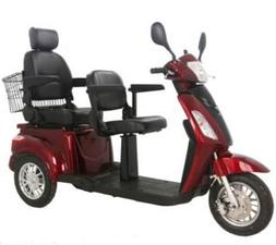 Two Seats Tandem Adult Electric Mobility Scooter, Double Sea
