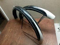 """Vintage 1950's black Schwinn Middleweight 26"""" bicycle fender"""