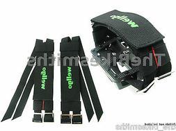 Wellgo W7 Pro Grip Black Double Power Pedal Hook&L Toe Strap