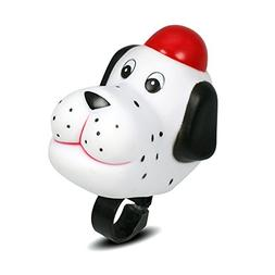 DRBIKE White Dog Bell for Kids Bike, Rubber Bike Horn for Gi