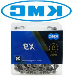 KMC X9 Silver/Black 9 speed Chain, 6.6mm