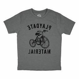 Youth Playdate Material Tshirt Funny Kids Friends Tricycle G